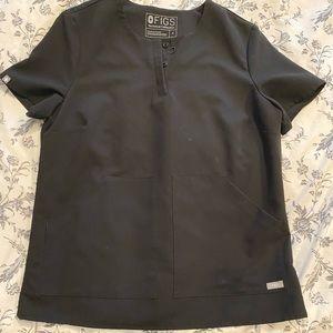 FIGS Limited Edition Black Scrub Top
